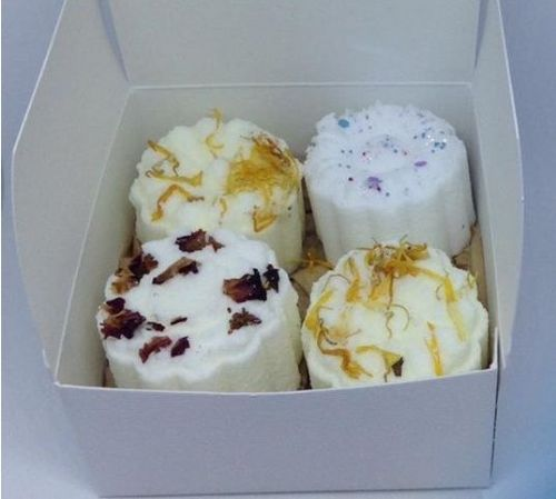 Lavender Fizzy Bath Cakes (bath bombs) - Box of 4